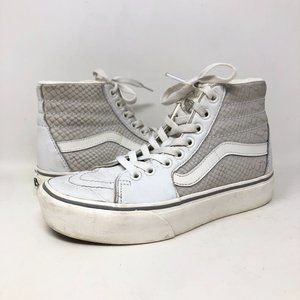 Vans S8 Hi Top Sneakers White Lace Up Unisex